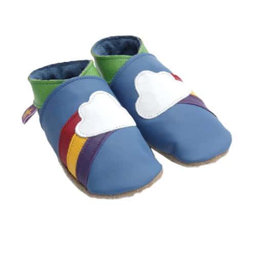Pantofiori pentru bebelusi, 6-12 luni Rainbow Blue