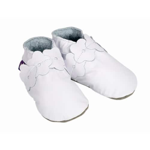 S0021027 Pantofiori nou-nascuti, 0-6 luni, alb, Blooming White