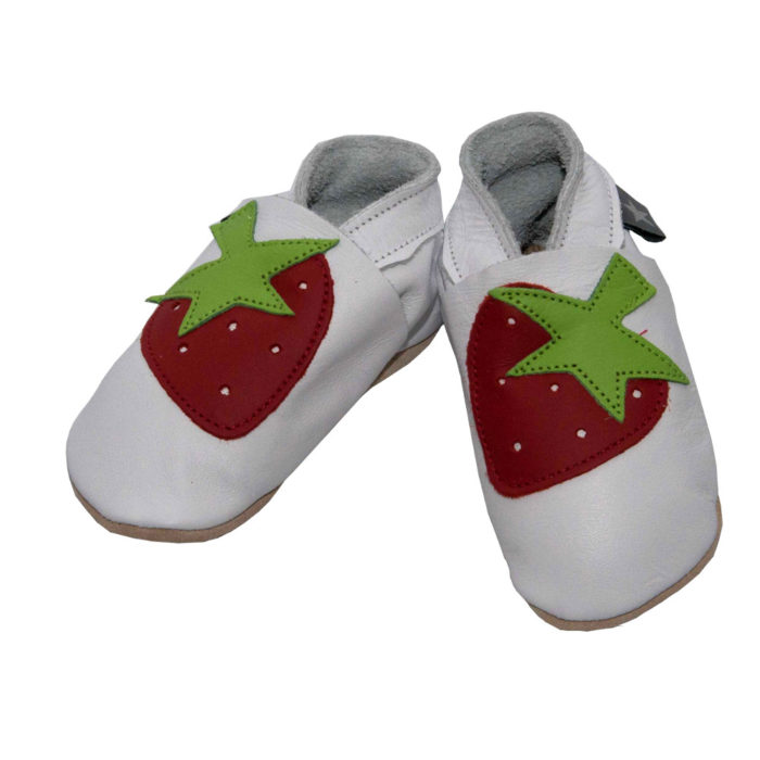 pantofiori din piele-strawberry-white-1