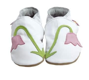 Pantofiori din piele lucrati manual Snowdrop