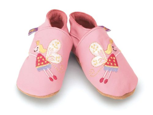 Pantofiori din piele pentru bebelusi | Fairy Baby Pink