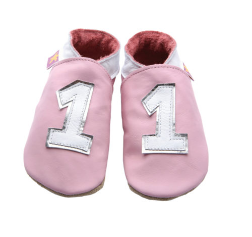 Pantofiori din piele naturala Number 1 Pink