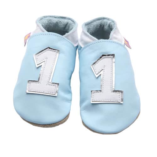 pantofi din piele copii Number 1 Blue