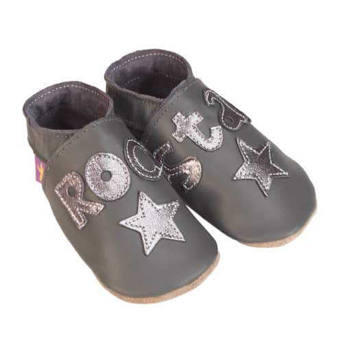 Pantofiori Rock Star Grey And Metal