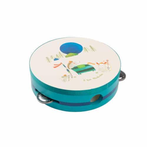 Tamburina pentru copii albastra