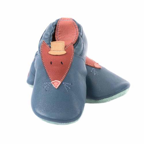 662522 Pantofiori din piele Doamna Vulpe, Moulin Roty