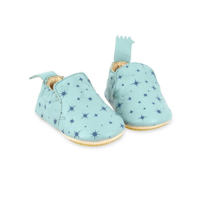 Pantofiori din piele pentru bebelusi BluBlu Cosmos