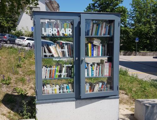 O biblioteca in aer liber pentru a promova lectura