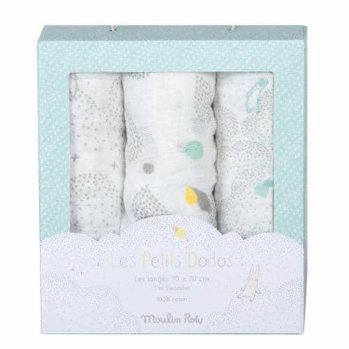 Scutece muselina, Set cadou pentru bebelusi , Moulin Roty