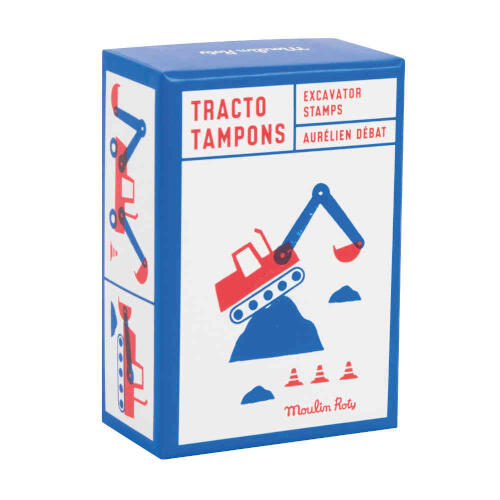 720400 Set 9 Stampile Tractor si Excavator Moulin Roty