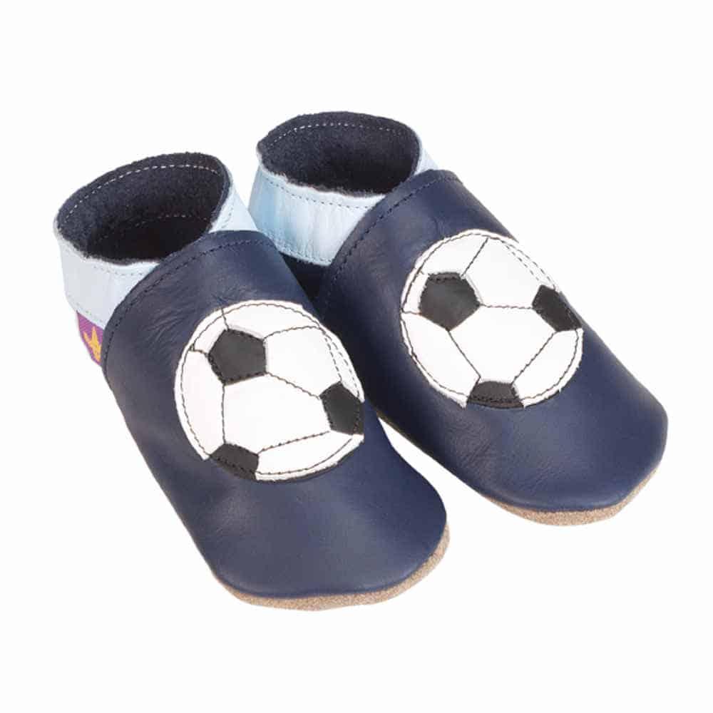 Pantofiori Din Piele Pentru Bebelusi Fotbal 1
