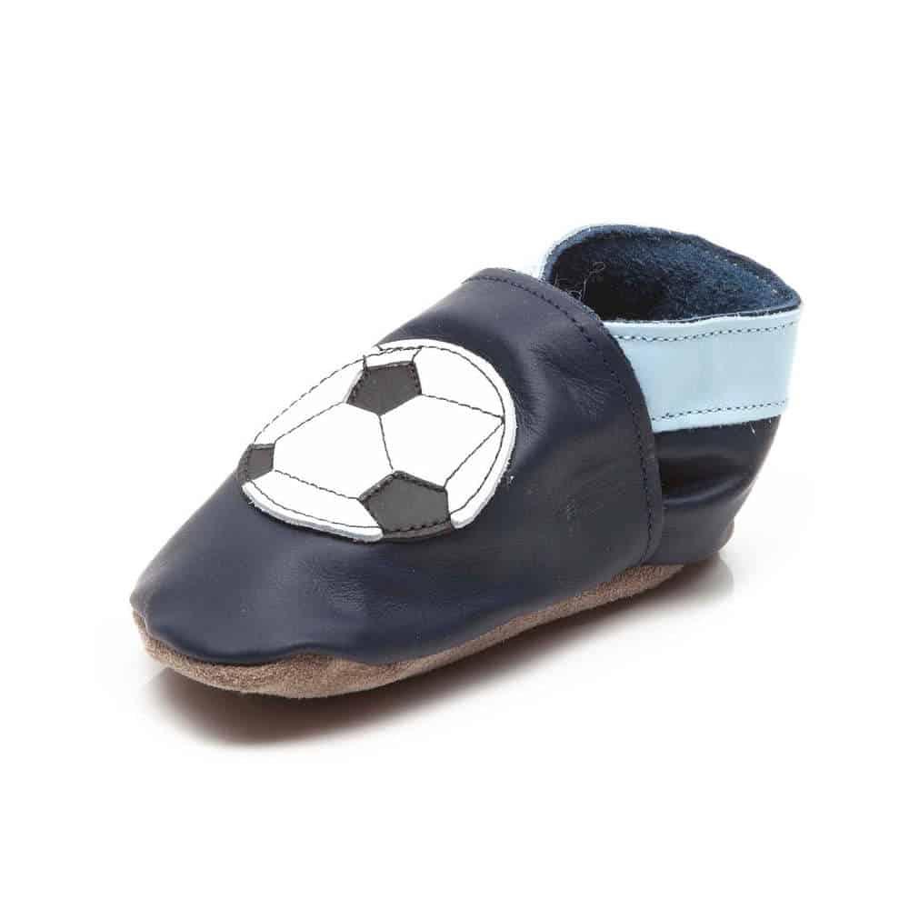 Pantofiori Din Piele Pentru Bebelusi Fotbal 3