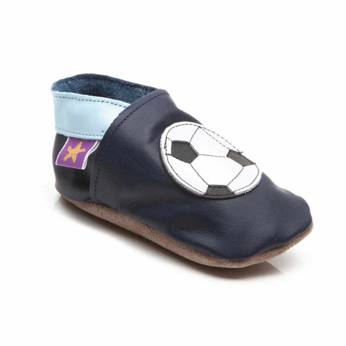 Pantofiori Din Piele Pentru Bebelusi Fotbal