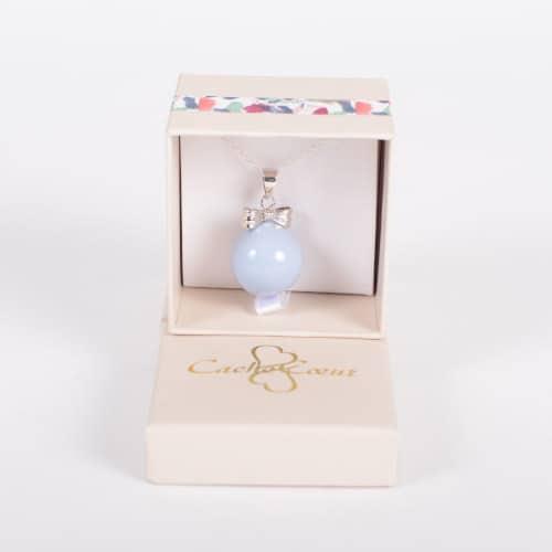 Colier Viitoare Mamici Din Argint – Bola Bow Blue