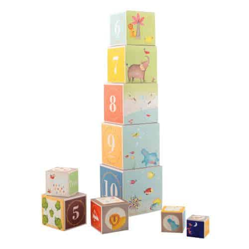 658215 Cuburi piramida din carton Domnul Elefant