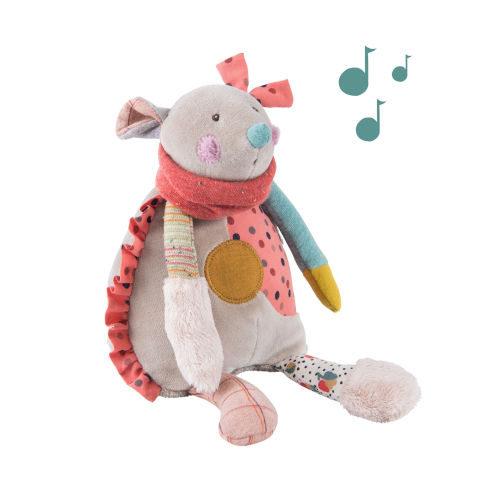 665042 Jucarie muzicala din plus , Soricel , 28 cm , Moulin ROTY