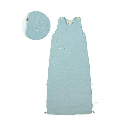 665087 Sac de dormit pentru bebelusi .Confetti bleu , Moulin Roty