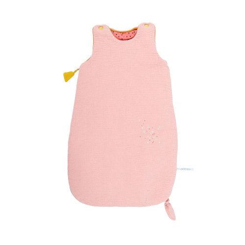 665092 Sac de dormit pentru bebelusi , Confetti roz , Moulin Roty