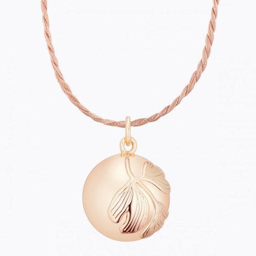 Cadou viitoare mamica -Colier sarcina Ginkgo gold rose,Ilado Paris