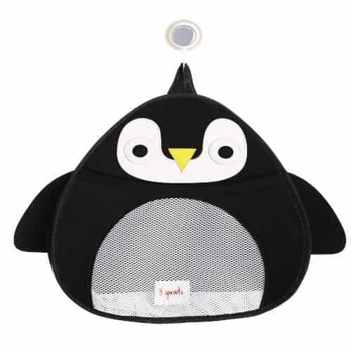 Organizator Pentru Depozitarea Jucariilor De Baie, Din Plasa In Forma De Pinguin, 3 Sprouts