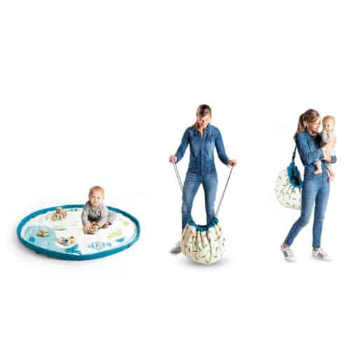 Salteluta de joaca si organizator jucarii pentru bebelusi, Doamna Gasca Olga, Moulin Roty
