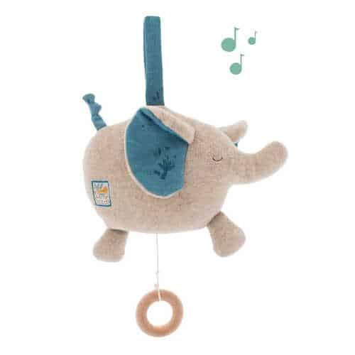 Plus muzical pentru bebelusi, Elefantul Bergamote, Moulin Roty