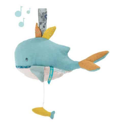 Jucarie muzicala bebelusi , Balena Josephine, Moulin Roty