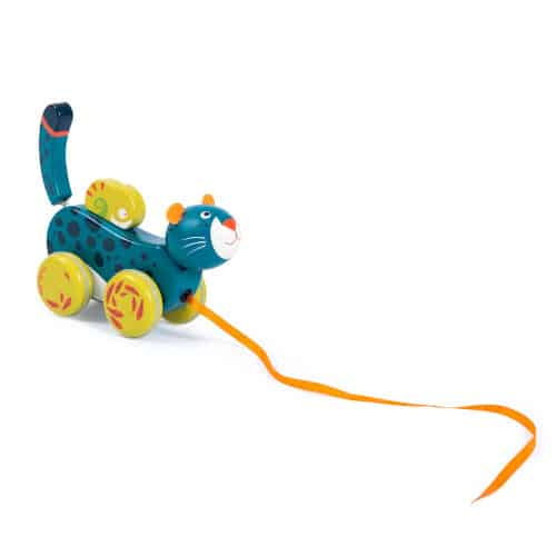 Jucarie de tras pentru bebelusi, Pantera Bleu