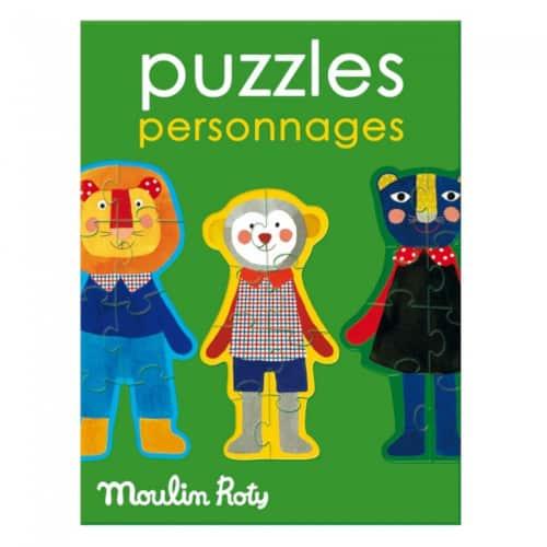 Puzzle copii 2 ani, Personajele Popipop, Moulin Roty