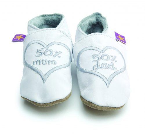 Pantofiori din piele I love mum and dad