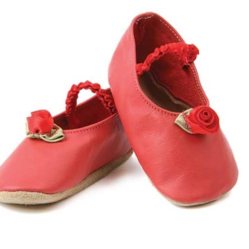 Pantofi bebeluse, 6-12 luni, rosu, Rose Red